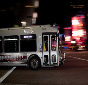 METRO BUS AT NIGHT