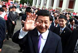 picture of Vice President Xi Jinping's waving in China.