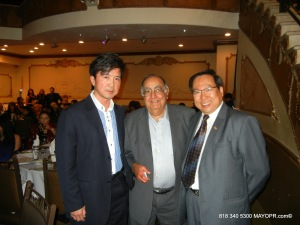 Phoebus Hon, John Krikorian, Business Life Magazine and John Baker, Chinese American Networks.
