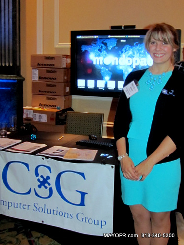 Michelle Car, Business Development, CSG Computer Solutions Group at Prelaunch of the 15th Annual L.A.'s Largest Mixer®, July 18, Shrine Expo Center.