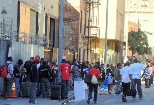 45,000 homeless in Greater LA area, including 3,500 on Skid Row.